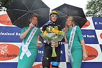 WIELRENNEN: SURHUISTERVEEN: 30-07-2013 Profronde, tourwinnaar Chris Froome met de rondemissen, ©foto Martin de Jong