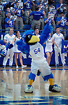 January 24, 2017:  Air Force mascot, The Bird, prior to the NCAA basketball game between the San Diego State Aztecs and the Air Force Academy Falcons, Clune Arena, U.S. Air Force Academy, Colorado Springs, Colorado.  Air Force defeats San Diego State 60-57.