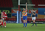 Referee Dudley Phillips<br /> Celtic League<br /> Scarlets v Munster<br /> <br /> 01.03.14<br /> <br /> &copy;Steve Pope-SPORTINGWALES