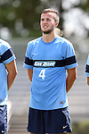 28 August 2016: San Diego's Henry Lander (ENG). The Elon University Phoenix played the University of San Diego Toreros at Koskinen Stadium in Durham, North Carolina in a 2016 NCAA Division I Men's Soccer match. USD won the game 2-1.