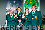 It was the home nation who took gold in the International shore fishing even at Inch beach Co Kerry last Saturday, pictured at the prizegiving in the Meadowlands hotel, Tralee last Saturday night were members of Tralee bay sea fishing club of L-R Rosaleene Murphy, Alison O'Sullivan and Donna Murphy with the Irish Manager John Kinsella.
