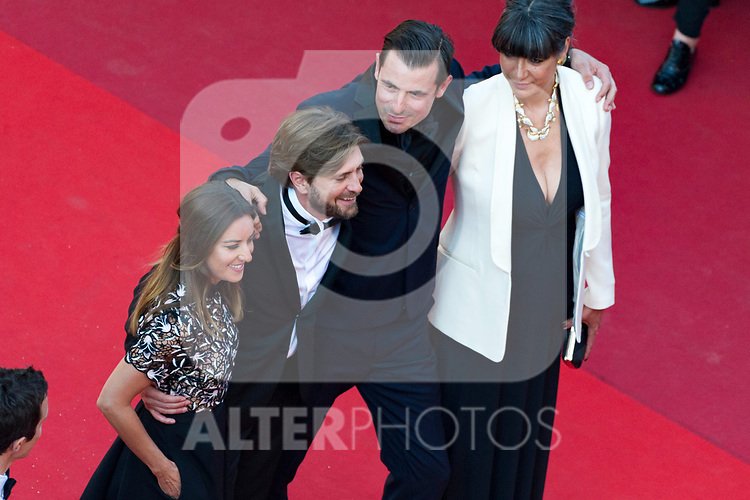 70eme Festival International du Film de Cannes. Montee de la ceremonie de cloture, vues du toit du Palais . 70th International Cannes Film Festival. Vew from rof top of closing red carpet<br /> Ostlund, Ruben