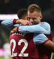 West Ham United's Sebastien Haller celebrates scoring his side's first goal with Andriy Yarmolenko<br /> <br /> Photographer Rob Newell/CameraSport<br /> <br /> The Premier League - West Ham United v Crystal Palace - Saturday 5th October 2019 - London Stadium - London<br /> <br /> World Copyright © 2019 CameraSport. All rights reserved. 43 Linden Ave. Countesthorpe. Leicester. England. LE8 5PG - Tel: +44 (0) 116 277 4147 - admin@camerasport.com - www.camerasport.com