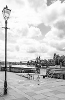 """Chiswick. Greater London. General View of the """"Furnivall Sculling Club"""" - Chiswick Mall and embankment  Leading from Chiswick to Fulham Reach RC. Sunday.  24.07.2016  [Mandatory Credit: Peter Spurrier/Intersport-images.com]"""