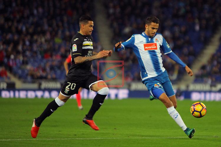 League Santander 2016/2017. Game: 13.<br /> RCD Espanyol vs CD Leganes: 3-0.<br /> Luciano vs Diego Reyes.