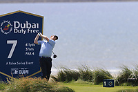 Robert Macintyre (SCO) tees off the 7th tee during Thursday's Round 1 of the Dubai Duty Free Irish Open 2019, held at Lahinch Golf Club, Lahinch, Ireland. 4th July 2019.<br /> Picture: Eoin Clarke | Golffile<br /> <br /> <br /> All photos usage must carry mandatory copyright credit (© Golffile | Eoin Clarke)