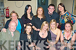 Anne Breen celebrated her birthday with friends in Roundys Bar on Saturday night, Front from left Larry Dawson, Meave Johnston, Anna Breen, Jolene O'Keeffe and Tracey Carter..Back Bernadette Fitzgerald, Vanessa Dennehy, Joan Lowe, Kevin O'Sullivan and Tara Johnston.