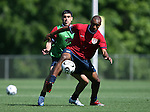 12 May 2006: Eddie Pope (front) is defended by Claudio Reyna (behind) during a scrimmage. The United States' Men's National Team trained at SAS Soccer Park in Cary, NC, in preparation for the 2006 FIFA World Cup tournament to be played in Germany from June 9 through July 9, 2006.