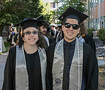 Erin Schubert and Joshua White during the University of Nevada College of Liberal Arts and Donald W. Reynolds School of Journalism graduation ceremony on Saturday morning, May 20, 2017.