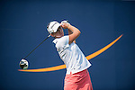 TAOYUAN, TAIWAN - OCTOBER 26:  Nicole Castrale of USA tees off on the 9th hole during the day two of the Sunrise LPGA Taiwan Championship at the Sunrise Golf Course on October 26, 2012 in Taoyuan, Taiwan. Photo by Victor Fraile / The Power of Sport Images