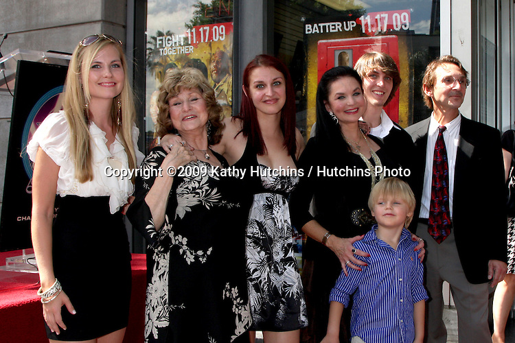 Crystal Gayle & Family.at the Hollywood Walk of Fame Star Ceremony for Crystal Gayle.On Vine, Just North of Sunset Blvd.Los Angeles,  CA.October 2, 2009.©2009 Kathy Hutchins / Hutchins Photo.