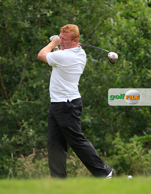 Colm Riordan (Ballykisteen) on the 12th tee during the Semi-Finals of the Munster Bruen &amp; Shield Finals at East Clare Golf Club on Sunday 19th July 2015.<br /> Picture:  Golffile | Thos Caffrey All photo usage must carry mandatory copyright credit (&copy; Golffile | Thos Caffrey)