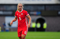 Elise Hughes of Wales during the UEFA Womens Euro Qualifier match between Wales and Northern Ireland at Rodney Parade in Newport, Wales, UK. Tuesday 03, September 2019
