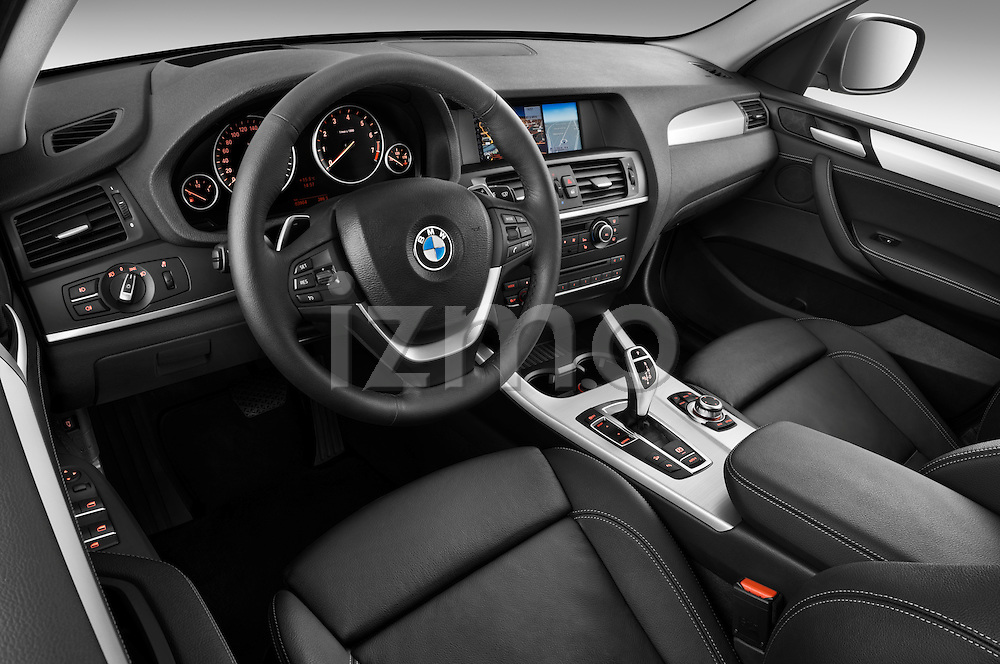 High angle dashboard view of a 2011 BMW x3 xDrive35i SUV