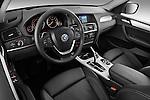 High angle dashboard view of a 2011 BMW x3 xDrive35i SUV