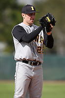 February 27, 2010:  Pitcher Phil Schreiber of the Iowa Hawkeyes during the Big East/Big 10 Challenge at Raymond Naimoli Complex in St. Petersburg, FL.  Photo By Mike Janes/Four Seam Images