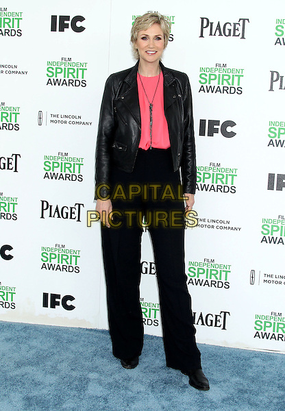 1 March 2014 - Santa Monica, California - Jane Lynch. 2014 Film Independent Spirit Awards held at Santa Monica Beach. <br /> CAP/ADM/RE<br /> &copy;Russ Elliot/AdMedia/Capital Pictures