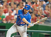 New York Mets second baseman Neil Walker (20) bats in the fourth inning against the Washington Nationals at Nationals Park in Washington, D.C. on Tuesday, June 28, 2016. The Nationals won the game 5 - 0.<br />
