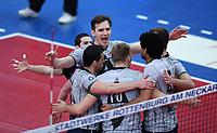 Volleyball 1. Bundesliga  Saison 2017/2018 TV Rottenburg - Hypo Tirol Alpen Volleys Haching     27.12.2017 TEAMJUBEL Alpen Volleys Haching; Stefan Chrtiansky (Mitte oben)