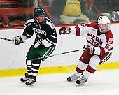 Connor Goggin (Dartmouth - 3), David Valek (Harvard - 22) - The Harvard University Crimson defeated the Dartmouth College Big Green 4-1 (EN) on Monday, January 18, 2010, at Bright Hockey Center in Cambridge, Massachusetts.