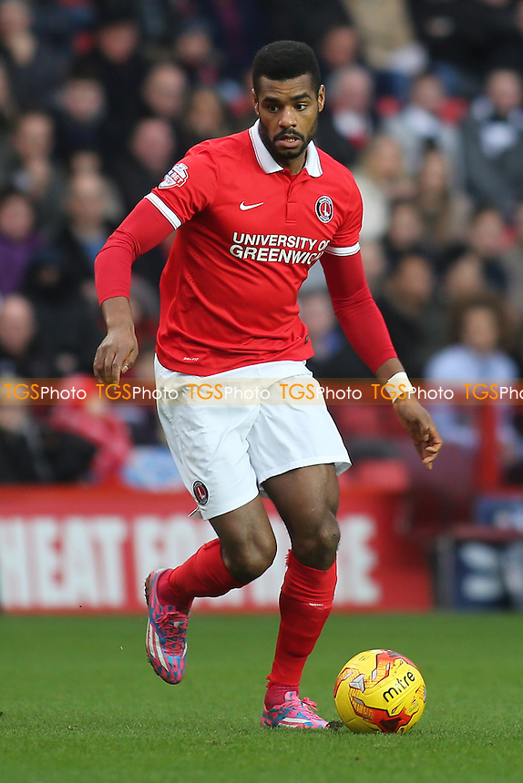 Ricardo Vaz Te of Charlton in action during Charlton Athletic vs Wolverhampton Wanderers, Sky Bet Championship Football at The Valley, London, England on 28/12/2015