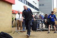 Bath Director of Rugby Todd Blackadder arrives at the stadium prior to the match. Anglo-Welsh Cup Final, between Bath Rugby and Exeter Chiefs on March 30, 2018 at Kingsholm Stadium in Gloucester, England. Photo by: Patrick Khachfe / Onside Images