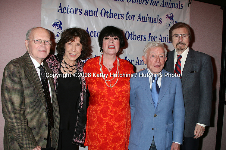 ?, Lily Tomlin, Jo Anne Worley, Arte  Johnson, and Gary Owens at  the Actors & Others for Animals Roast of Carol Channing at the Universal Hilton Hotel in Los Angeles, CA on .November 15, 2008.©2008 Kathy Hutchins / Hutchins Photo...                . .