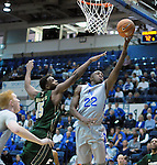 January 20, 2016 - Colorado Springs, Colorado, U.S. -  Air Force guard, Pervis Louder #22, reaches for a layup during an NCAA basketball game between the Colorado State University Rams and the Air Force Academy Falcons at Clune Arena, United States Air Force Academy, Colorado Springs, Colorado.  Colorado State defeats Air Force 83-79.