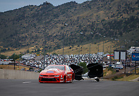 Jul 23, 2017; Morrison, CO, USA; NHRA pro stock driver Drew Skillman during the Mile High Nationals at Bandimere Speedway. Mandatory Credit: Mark J. Rebilas-USA TODAY Sports