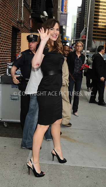 WWW.ACEPIXS.COM . . . . . ....April 29 2009, New York City....Actress Jennifer Garner made an appearance at the 'Late Show With David Letterman' at the Ed Sullivan Theater on April 29, 2009 in New York City. ....Please byline: AJ SOKALNER - ACEPIXS.COM.. . . . . . ..Ace Pictures, Inc:  ..tel: (212) 243 8787 or (646) 769 0430..e-mail: info@acepixs.com..web: http://www.acepixs.com