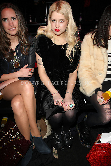 WWW.ACEPIXS.COM . . . . .  ..... . . . . US SALES ONLY . . . . .....February 2010, London....Peaches Geldof during London Fashion Week in February 2010 in London....Please byline: FAMOUS-ACE PICTURES... . . . .  ....Ace Pictures, Inc:  ..tel: (212) 243 8787 or (646) 769 0430..e-mail: info@acepixs.com..web: http://www.acepixs.com