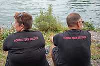 Lucerne, SWITZERLAND, 12th July 2018, Friday  FISA World Cup series, No.3, Lake Rotsee, Lucerne,  Spectators, Supporters, Photographer Karon PHILLIPS