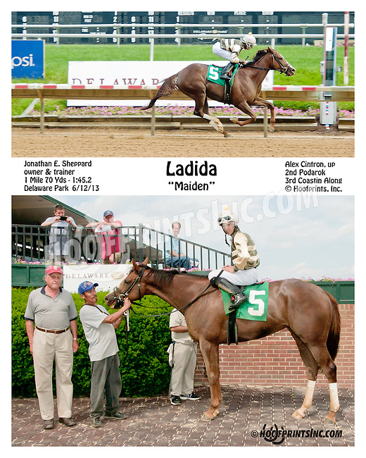 Ladida winning at Delaware Park on 6/12/13