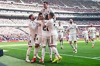 Carlos Henrique Casemiro, Sergio Ramos, Lucas Vazquez and Vinicius Jr of Real Madrid celebrating a goal during La Liga match between Atletico de Madrid and Real Madrid at Wanda Metropolitano in Madrid Spain. February 09, 2018. (ALTERPHOTOS/Borja B.Hojas)<br /> Liga Campionato Spagna 2018/2019<br /> Foto Alterphotos / Insidefoto <br /> ITALY ONLY