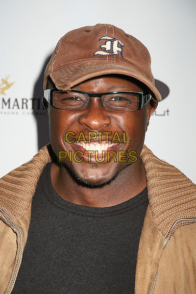 STEVE HARRIS .2nd Annual Celebrity Poker Tournament Benefiting The Urban Health Institute at the Playboy Mansion, Holmby Hills, California, USA..April 28th, 2007.headshot portrait goatee facial hair glasses brown baseball cap hat .CAP/ADM/BP.©Byron Purvis/AdMedia/Capital Pictures