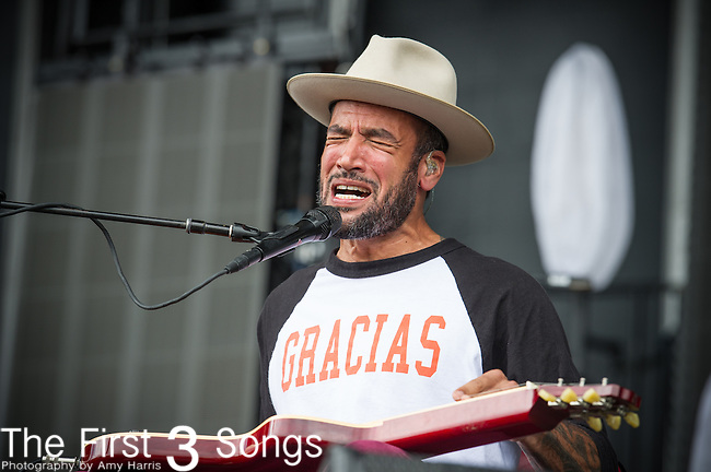 Ben Harper performs during Day 3 of the 2013 Firefly Music Festival in Dover, Delaware.