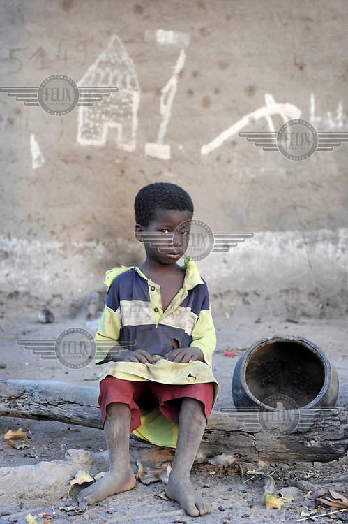 Five year old Mamadou Doumbia, who hasn't yet started school.