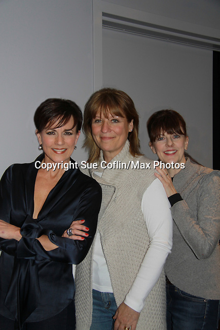"""As the World Turns' Colleen Zenk poses with Eliza Ventura and Meghan Duffy (R) as they star in """"Marrying George Clooney: Confessions from a Midlife Crisis"""" on February 29, 2012 at Cap 21 America's Musical Thetre Conservatory & Theatre Company, New York City, New York.  (Photo by Sue Coflin/Max Photos)"""
