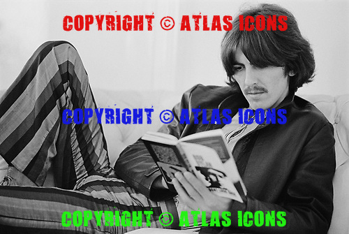 George Harrison, Apple Corps Headquarters, London 1968<br /> Photo Credit: Baron Wolman\AtlasIcons.com