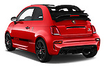 Car pictures of rear three quarter view of 2016 Abarth 595 Competizione 2 Door Convertible Angular Rear