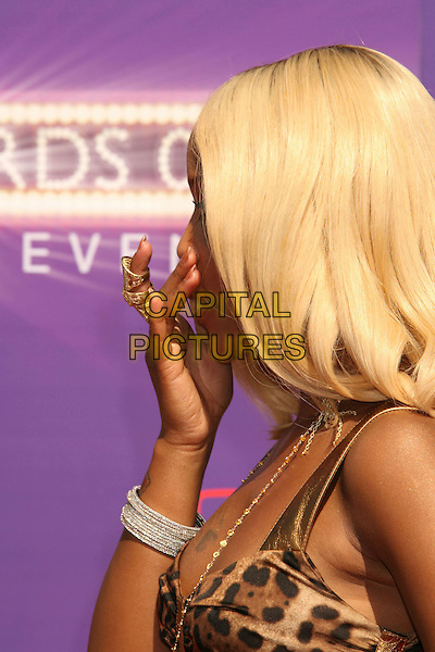 EVE.2007 BET Awards held the at Shrine Auditorium, Los Angeles, California, USA..June 26th, 2007.headshot portrait tattoos funny face hand profile bracelets.CAP/ADM/RE.©Russ Elliot/AdMedia/Capital Pictures