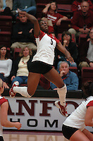 10 November 2005: Njideka Nnamani during Stanford's 3-0 win over ASU at Maples Pavilion in Stanford, CA.