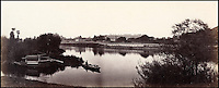 BNPS.co.uk (01202 558833)<br /> Pic: Bonhams/BNPS<br /> <br /> Prout's picture of Hampton Court across the Thames.<br /> <br /> 'Old man river, he just keeps rollin' - A remarkable collection of panoramic photographs of the Thames taken 160 years ago have emerged for auction, and they reveal how little the famous old river has changed in the last century and a half.<br /> <br /> They follow the river from London to Oxford in 40 photographs providing a fascinating insight into how the famous river looked in the mid-19th century.<br /> <br /> Londoner Victor Prout started photographing the Thames in 1857 using a camera which would produce wide-vision images because of a lens that swung round and 'scanned' sections of the picture.<br /> <br /> This rare complete copy of the first edition of Prout's pioneering panoramics has emerged for auction and is tipped to sell for &pound;12,000 when they go under the hammer at Bonhams on March 1.