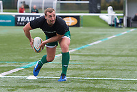Craig Willis of Ealing Trailfinders warming up before the RFU Championship Cup match between Ealing Trailfinders and Ampthill RUFC at Castle Bar , West Ealing , England  on 28 September 2019. Photo by Alan  Stanford / PRiME Media Images