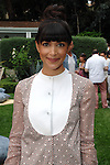 Hannah Simone==<br /> LAXART 5th Annual Garden Party Presented by Tory Burch==<br /> Private Residence, Beverly Hills, CA==<br /> August 3, 2014==<br /> &copy;LAXART==<br /> Photo: DAVID CROTTY/Laxart.com==