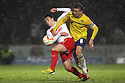 Luke Freeman of Stevenage grapples with Carl Baker of Coventry. Stevenage v Coventry City - npower League 1 - Lamex Stadium, Stevenage - 26th December, 2012. © Kevin Coleman 2012......