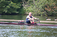 Race: 42  MasH.1x  Quarter-Final<br /> 204  Upper Thames Rowing Club (Davies)<br /> 208  Minerva Bath Rowing Club (O'Farrell)<br /> <br /> Henley Masters Regatta 2018 - Friday<br /> <br /> To purchase this photo, or to see pricing information for Prints and Downloads, click the blue 'Add to Cart' button at the top-right of the page.