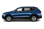 Car driver side profile view of a 2019 Volkswagen Tiguan Confrontline-business  5 Door SUV