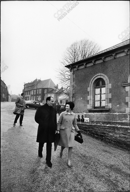 Francois Mitterrand with his wife Danielle, Château-Chinon, France, December 5, 1965