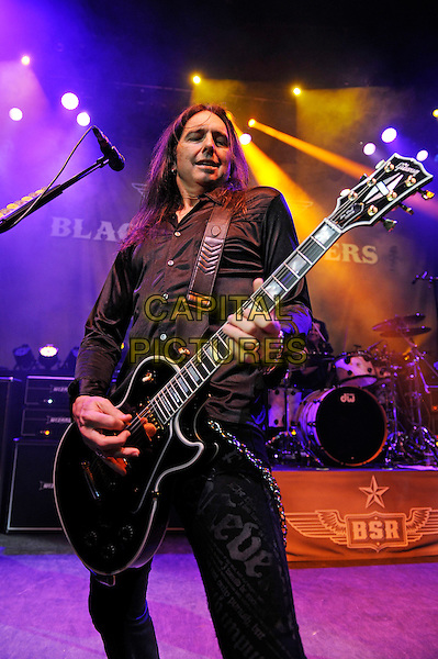 LONDON, ENGLAND - MARCH 20: Damon Johnson of 'Black Star Riders' performing at Shepherd's Bush Empire on March 20, 2015 in London, England.<br /> CAP/MAR<br /> &copy; Martin Harris/Capital Pictures